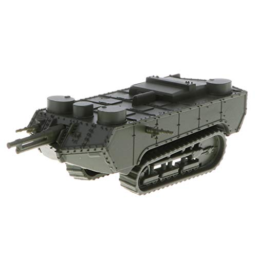 B Blesiya 1/100 French St-Chamond Early Tank WWI Heavy Panzer Army Vehicle Model Toy for Kids Boys