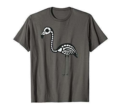Halloween Skeleton Flamingo Animal Costume Shirt -