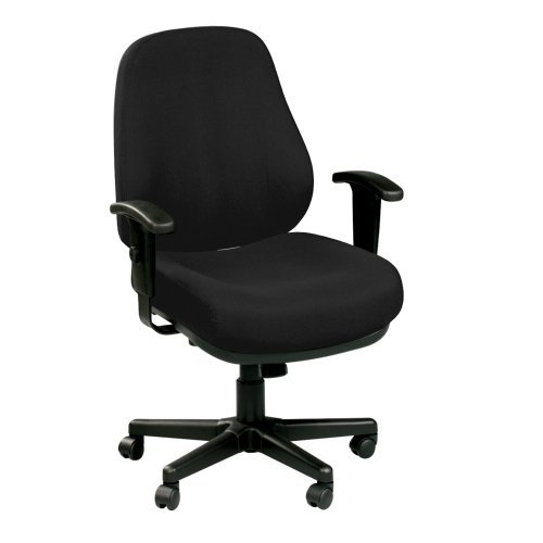 7 Collection Heavy Duty Ergonomic Task Chair, Black Fabric (Task Collection)
