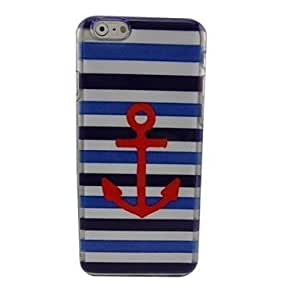 """For iPhone 6 Plus Case, Fashion Beautiful Anchor Pattern Protective Hard Phone Cover Skin Case For iPhone 6 Plus (5.5"""") + Screen Protector"""