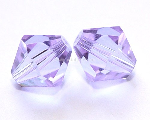 - 24 6mm Adabele Austrian Bicone Crystal Beads Light Violet Compatible with Swarovski Crystals Preciosa 5301/5328#SSB604