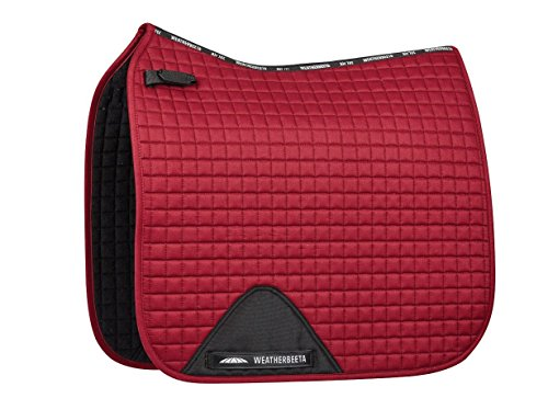Weatherbeeta Prime Dressage Saddle Pad Maroon Full