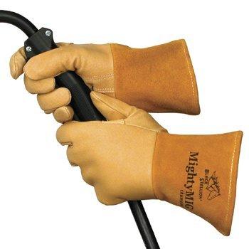 Revco 39CHMP-M Black Stallion Mighty Mig Welder Glove, Premium Grain, Medium  (12 Pairs)