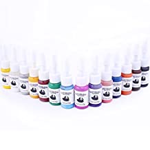 Fashinzone 14 Colors/Bottles Tattoo Ink Pigment Set Kits for Tattoo Professional Beauty Permanent Makesup Paints