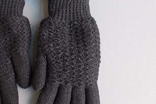 Black lined gloves faux fur knit stretch gloves winter super warm ladies by RIX Women's Luxury (Image #1)