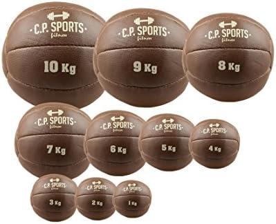 Balón medicinal de piel negro o marrón, C.P. Sports 0,5 kg, 1 kg ...