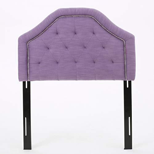 Lyla Studded Border Fabric Kid's Twin Headboard (Light Purple) (Studded Twin)