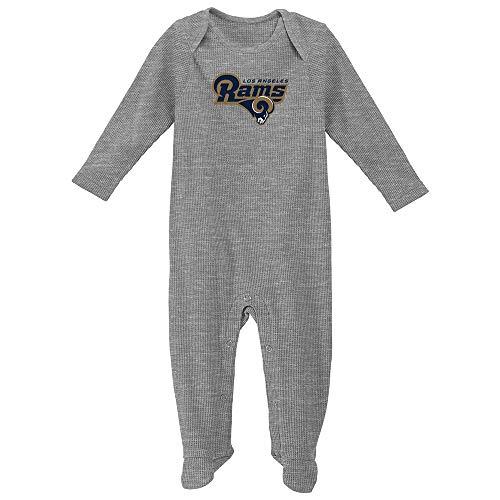 Outerstuff St Louis Rams NFL Newborn Grey Big Fan Long Sleeve Bodysuit ()