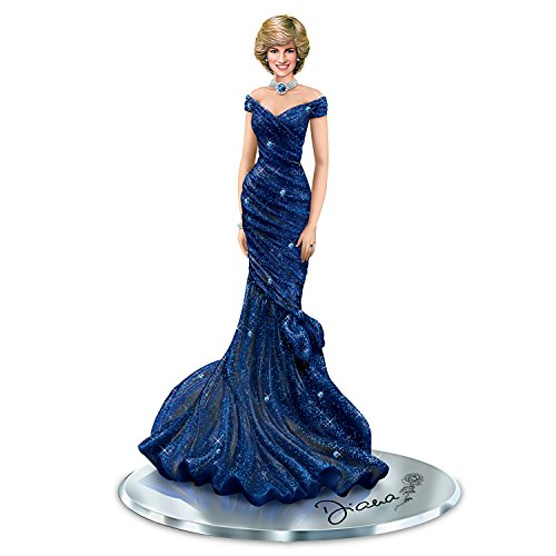 Princess Diana Figurine With Iconic Royal Blue Dress and Swarovski Crystals by The Hamilton Collection ()