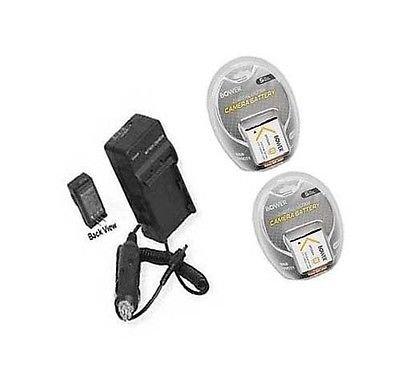 2つ2電池+充電器for Sony dsc-w650、Sony dscw650 / B、Sony DSC - w580、Sony dsc-w580b、Sony DSC - wx5   B01DNABG0Q