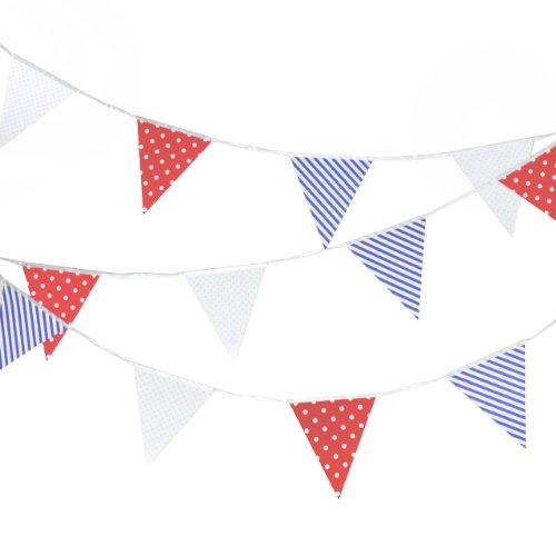 YazyCraft Patriotic Banner -- Paper Pennant Garlands -- [4th of July / Memorial Day / Veterans Day / Welcome Home ()