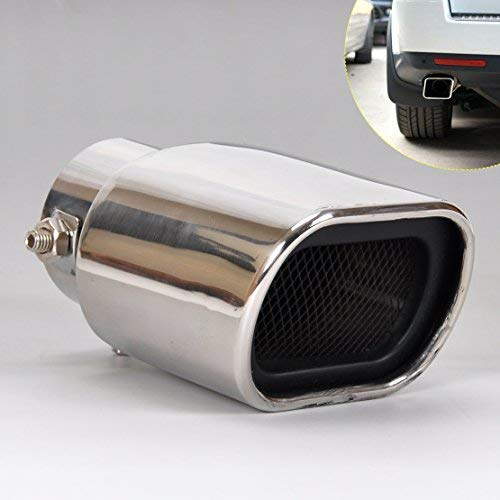 DDV- US - 1Pc Universal Straight Stainless Steel Exhaust Tail Rear Muffler Tip Pipe for VW Nissan Peugeot Toyota Mini Rover Skoda ()