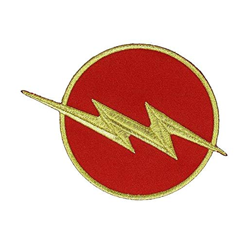 THE FLASH Red & Gold Chest Emblem RED Halloween TV Show DC Comics Costume Jacket Shirt Hat Cap Embroidered Patch Easy Iron -