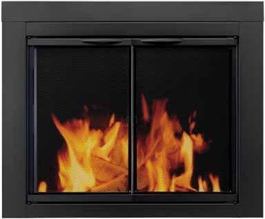 Astor Fire Screen Pwdr Steel 37.5 '' W X 30 '' H 30 '' - 37 '' W X 22.5 '' - 29.5 '' H Black by Astor