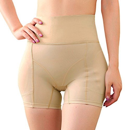 Shymay Women's Hip Enhancer Butt Lifter Padded Panty Waist Girdle Control Panties, Nude, Tag Size XL=US Size Small