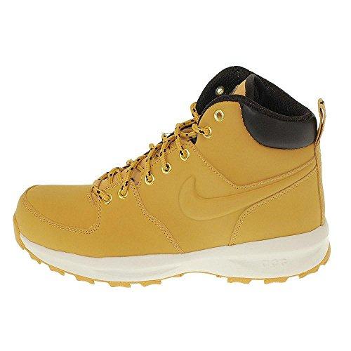 NIKE Manoa Leather Boots Haystack/Haystack-Velvet Brown (GS) (6.5 M US Big Kid)