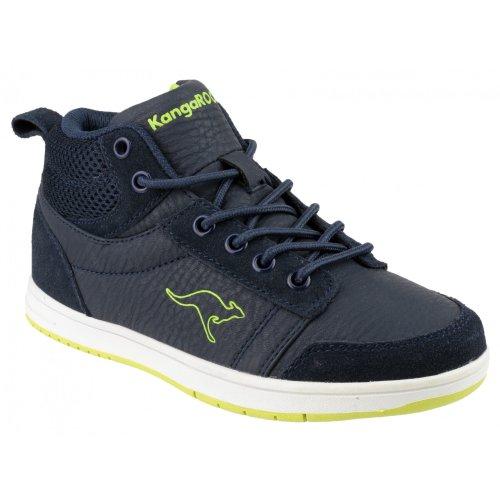 KangaROOS Skye, Jungen Sneakers Marineblau Limegrün