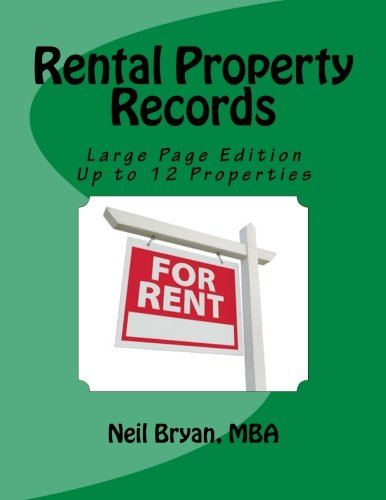 Rental Property Records Book   Larger Edition