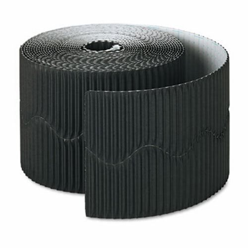 Black Trim Scalloped (Bordette Decorative Border, 2 1/4'' x 50' Roll, Black, Sold as 1 Roll)