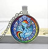 Rainbow Dash My Little Pony Friendship is Magic Necklace Glass Cabochon Necklace