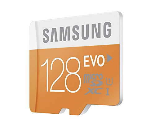Samsung 128GB EVO Class 10 Micro SDXC Card with Adapter up to 48MB/s (MB-MP128DA/EU) 3 Up To 48Mb/S Transfer Speed Great For Cell Phones, Smartphones, Android Tablets, Tablet Pcs Great Speed And Performance For Full Hd Video Recording, High Resolution Pictures, Mobile Gaming, Music And More