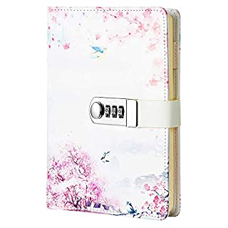Sealei A5 (8.47 X 5.9 Inch) Lock Journal Diary Notebook Combination Locking Journal Diary (Diary With Combination Lock) (Style 3)