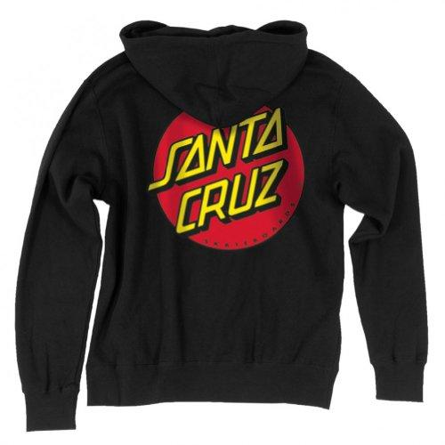 NHS Santa Cruz Classic Dot Youth Hooded Zip Sweats,Black,Large