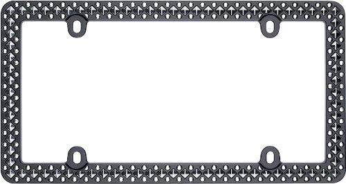(Cruiser Accessories 58153 Defender License Plate Frame, Matte Black/Chrome)