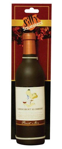 VIP Products Silly Sqeakers Groobert Sloobery Wine Bottle Dog Toy, Brown, My Pet Supplies