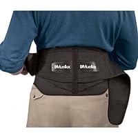 "Apoyo posterior lumbar ajustable Mueller con almohadilla removible, Negro, Talla Extra (50 ""- 70"" de cintura)"