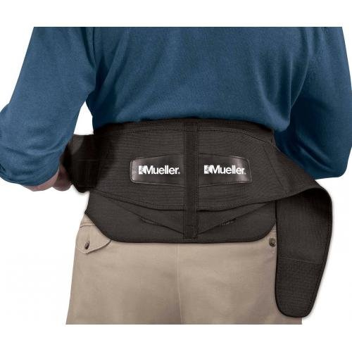 Mueller Sports Medicine - Mueller Adjustable Lumbar Support Back Brace with Removable Pad, Black, Plus Size (50
