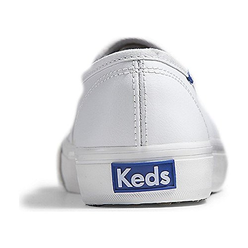 Keds Womens Double Decker Perf Leather Fashion Sneaker White