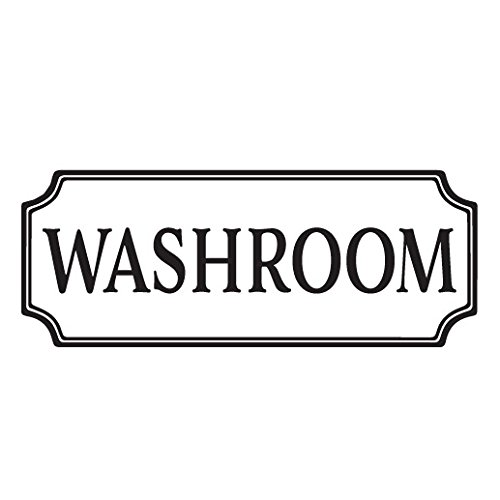 Washroom Vinyl Decal, Bathroom Vinyl Decal, Glass Door Decal, vinyl lettering, Rectangle Border Fame sign, Wall sticker HH2063 (Cabin With Glass Door compare prices)