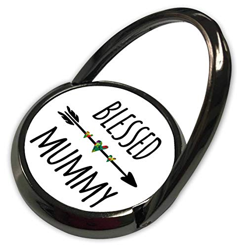 3dRose InspirationzStore - Blessed Series - Blessed Mummy Tribal Arrow with Cute Hearts - Family Love Sayings Gift - Phone Ring (phr_316590_1) ()