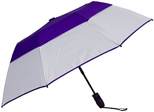 Haas-Jordan Metropolis Umbrella, Purple/White]()