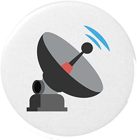 antena satelital Emoji 25mm insignia botón / Satellite ...