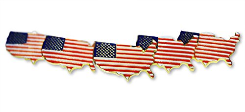 [Patriotic North American Country Outline Flag 5-Piece Lapel or Hat Pin & Tie Tack Set with Clutch Back by Novel] (National Costume Of All Countries)