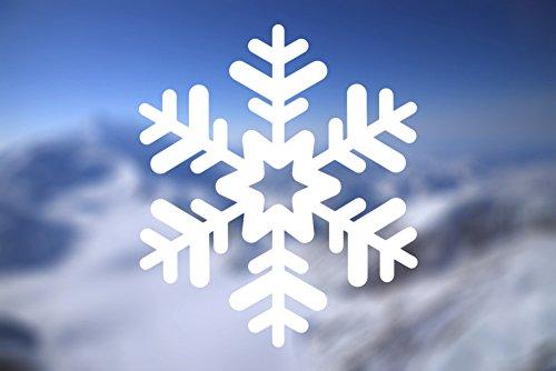 Snowflake Ski Snowboard - Vinyl Decal - Car Truck Laptop - SELECT SIZE ()