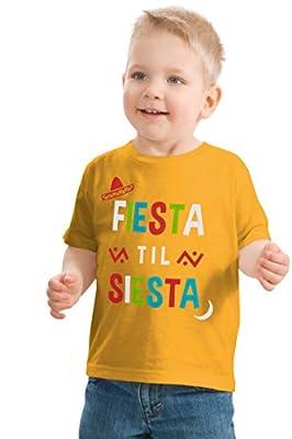 Ann Arbor T-shirt Co. Fiesta til' Siesta   Cute Funny Napping Nap Time Party Toddler Boy Girl T-Shirt