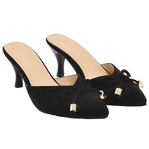 JYshoes Mules Noir JYshoes Noir JYshoes Femme Femme Mules 6wxR4IXOq