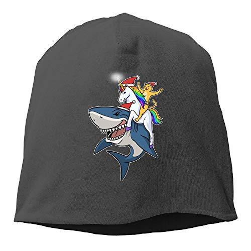 Women Knit Skull Beanie Hat Cat Ride Unicorn Shark Warm Retro Watch ()