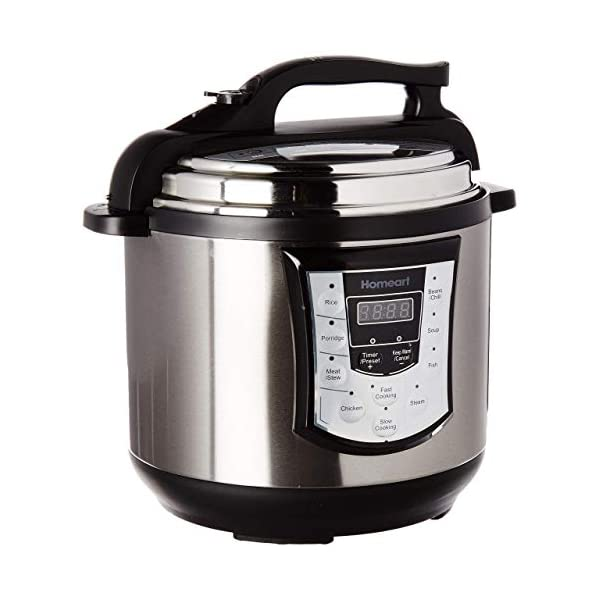 Homeart Multipot Pressure Cooker, Programmable Settings with Multifunctions, Over 6 Liter Capacity 1