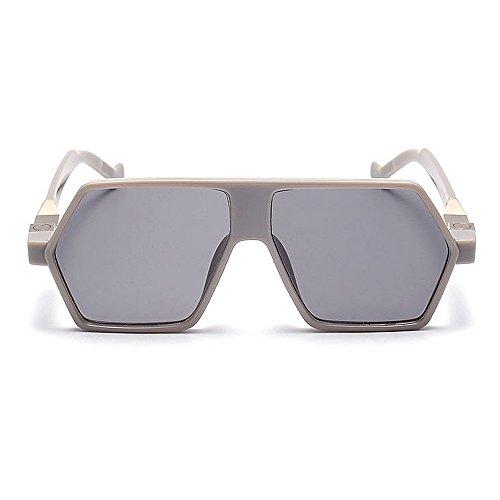 Mujeres Ultravioleta la únicas Gu Peggy Vacaciones Gafas para Gris Que Gris Playa Color Libre Las al Sol Irregular conducen de Verano Aire de protección wY4Y78xAq