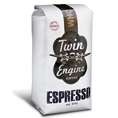 Twin Engine Coffee ESPRESSO - Espresso Roast, Whole Bean, Nicaraguan Coffee, 400g 14.1oz | Rich Specialty Grade Coffee packaged at the source | Nicaragua's Coffee