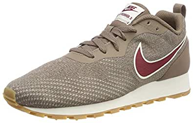 Nike Womens MD Runner 2 ENG MESH Running Trainers 916797 Sneakers Shoes (UK 4.5 US 7 EU 38, Mink Brown red Crush 200)