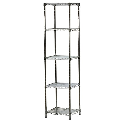 18d x 18w x 84h Chrome Wire Shelving with 5 Shelves