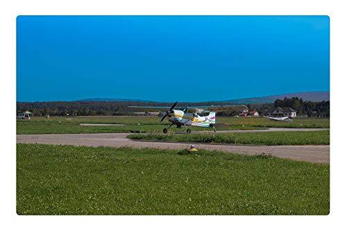 Indoor Floor Rug/Mat (23.6 x 15.7 Inch) - The Plane Fly Aviation Sky Wings Propeller Flight 1