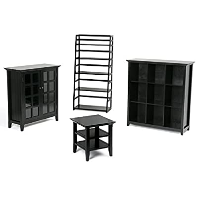 Simpli Home Acadian Ladder Shelf Bookcase