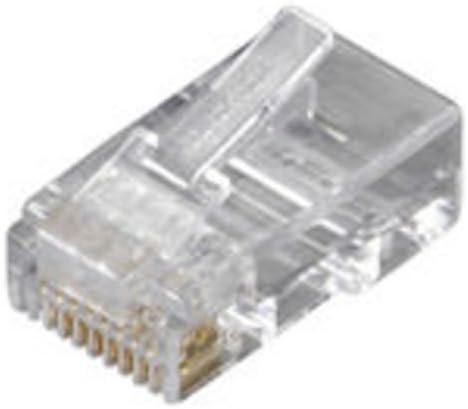 Black Box 250-Pack RJ45 Unshielded Modular Plug 6-Wire