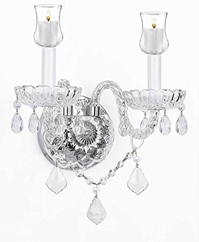 Gallery Murano Venetian Style Crystal Wall Sconce Lightin...